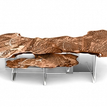 BOCA DO LOBO MONET CENTER TABLE COPPER / NICKEL