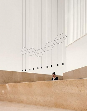 Vibia WIREFLOW LINEAL 0332 suspension