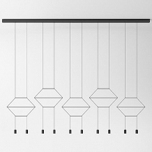 Vibia WIREFLOW LINEAL 0330 suspension